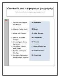 esl english vocabulary printable worksheets glaciers landforms