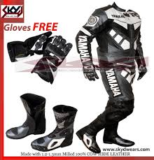 motorcycle leathers yamaha gray black racing leather motorcycle suit shoes glove any