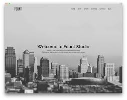 best wordpress themes for architects and architectural firms 2017 fount architect template