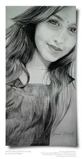 a beautiful hs pencil u0026 charcoal sketch kamal nishad