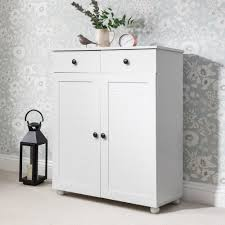White Shoe Storage Cabinet Shoe Storage Cabinet With Storage Drawers In White