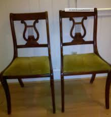 duncan phyfe dining chairs two 2 vintage duncan phyfe lyre harp
