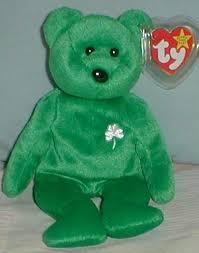 ty erin beanie baby born march 17 green irish bear for sale