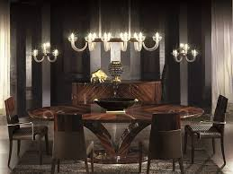 affordable dining room lighting above wooden table with dark brown