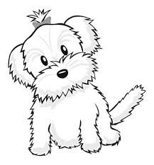 yorkie coloring pages color puppy coloring book pages
