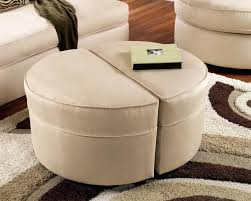 Coffee Table Ottoman Combo Leather Storage Ottoman Black Leather Storage Ottoman Black