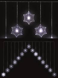 drop down christmas lights snowflake v curtain light 15 led christmas window decoration