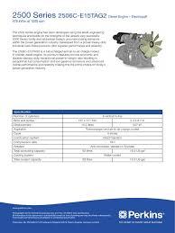 perkin 2500s diesel engine systems engineering