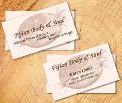 business card design for fijian body u0026 soul by irina gabriela