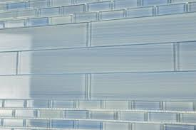 glass tile 2x12 trim kitchen bathroom tile blue white bamboo