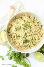 cilantro lime quinoa the harvest kitchen