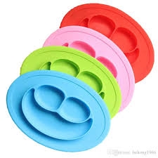 baby plates 2018 baby plate smiling silica gel integral dining pad plates