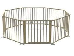 foxhunter baby child foldable playpen play pen room divider wooden
