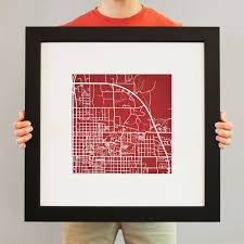 Indiana State University Campus Map by Indiana University Campus Map Art City Prints