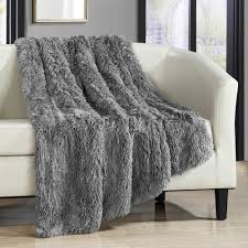 Faux Fur Blankets And Throws Chic Home Juneau Faux Fur Ultra Plush Decorative Throw Blanket