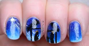 12 days of christmas nail art nativity scene be happy and buy