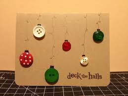 simple button homemade deck the halls christmas card my projects