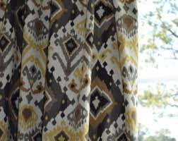 Black Tan Curtains Pair Of Custom Curtains Or Drapes Any Size Available