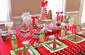 christmas party table decorations decorating ideas for christmas party mariannemitchell me