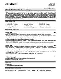 plant manager resume field operations manager resume template premium resume sles