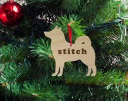 husky ornament etsy