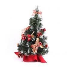 wholesale sale mini christmas tree with silver snowflake
