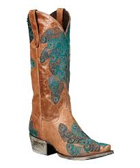 womens boots peacocks boots brown teal peacock feather cowboy boot zulily