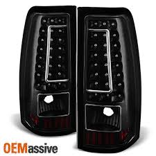 2005 gmc sierra tail lights 2003 2006 chevy silverado gmc sierra 1500 2500 3500 led black tail
