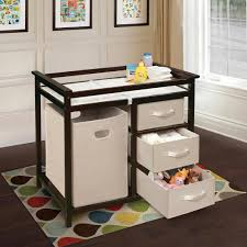 Badger Basket Baby Changing Table With Six Baskets Badger Basket Modern Changing Table With 3 Baskets And Her