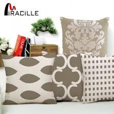 taie d oreiller pour canapé miracille gris géométrie série coussin couvre coton lattice