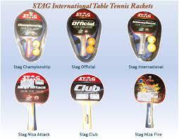 quality table tennis bats stag international series of table tennis rackets khelmart org