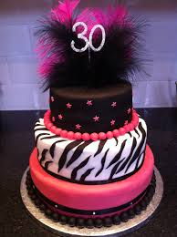 beautiful birthday cakes for 30th birthday cakes with 30th