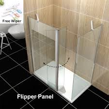 1500x800mm wet room shower screen tray walk in shower enclosure