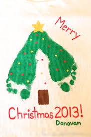 christmas footprint crafts make a keepsake t shirt for your