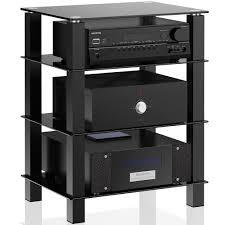 Furniture For Lcd Tv Tv Media Stand Storage Tower Glass Shelves Storage For Av
