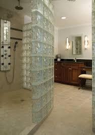 glass block walls in bathrooms bathroom with glass block wall