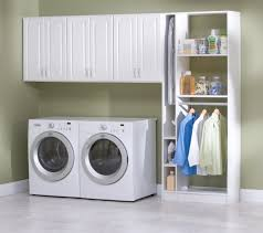 interior small laundry room with folding door as cabinet idea