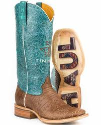 womens size 11 square toe cowboy boots tin haul s 13 turquuoise and brown aztec tooled square toe