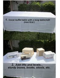 how to make a buffet table party planning trust me you can do this home goods shows you