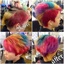 color retouch using paul mitchell u0027s ink works line colorful hair