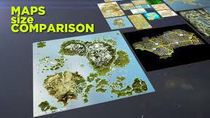 map size comparison maps size comparison