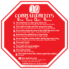 creative sunday crafts ten commandments visual stop sign