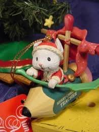 enesco christmas ornament mr mailmouse mouse on tricycle new