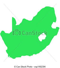 africa map drawing south africa outline map isolated south africa outline map