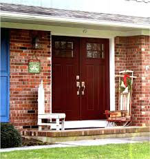 brown brick house front door color red yellow colors 11 house