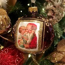 set of 6 vintage portrait european glass ornaments
