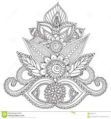 coloring pages adults henna mehndi doodles abstract floral
