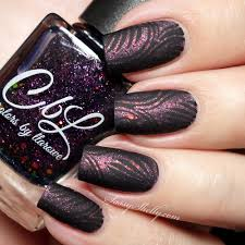 digit al dozen black matte nail stamping sassy shelly