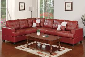 Burgundy Living Room by Leather Sectionals Living Room Burgundy Bonded Leather Sectional