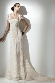 vintage style wedding dresses buy empire vintage lace wedding gowns with removable cap sleeves
